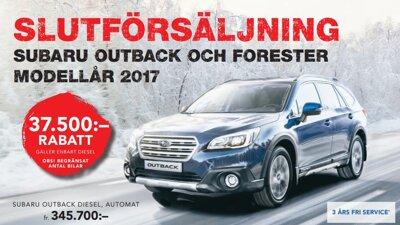 SLUTFÖRSÄLJNING  SUBARU FORESTER  & OUTBACK